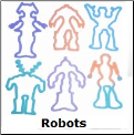 Robots 12 Color Changing Silly Bandz