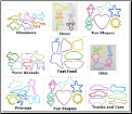 108 Classic Silly Bandz