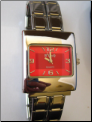 Watch Bright Red Double Mega Italian Charm