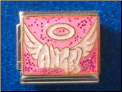 Angel Halo & wings  pink  Italian Charm