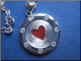 Red Heart Casino Sterling Silver Pendant