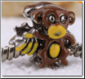 Enamel Monkey  Bead