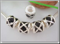 Black Enamel Spacer Bead