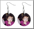 Custom Photo Button Earrings