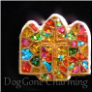 Stained Glass Window Gold Floating Locket Charm