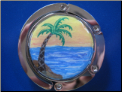 Palm Tree Sunset - Hand painted purse hook