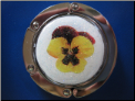 Yellow Pansy Hand Crafted Purse Hook