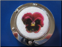 Red Pansy Hand Crafted Purse Hook