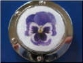 Purple Pansy Hand Crafted Purse Hook