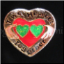 Two Hearts Together GRN IRISH Floating Locket Charm