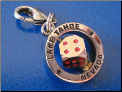 Lake Tahoe & spinning dice   Zipper - Pull charm