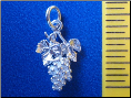 Grapes Cluster Sterling Silver Pendant - Charm