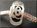 Panda Glow in the Dark Bead
