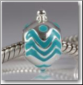 Christmas Ornament Blue 925 Sterling European Bead