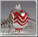Christmas Ornament Red 925 Sterling European Bead