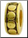 Gold Plated Dots spacer bead