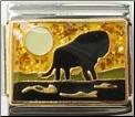 Africa Lion Silhouette -  Glitter
