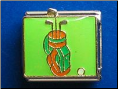 Golf Bag   Green  9 mm Italian charm