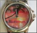 Orange Sunset & Palm Watch