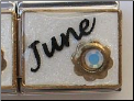 June Birthstone Italian Charm