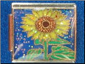 Glitter Sunflower on Dark Blue