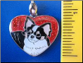 Chihuahua Pendant/Zipper pull   double sided   with glitter