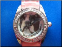 Boston Terrier Watch   Pink band
