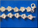 Bracelet   Sterling Silver Dog paws