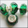 Emerald Green May Crystal Bead Silver Core