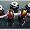 Black Gold Foil Glass Bead