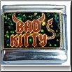 Bad Kitty, glitter Italian Charm