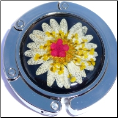 Dried Daisy Flowers Purse Hook