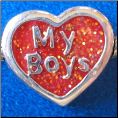 Love my BOYS Bead  European style Silver bead