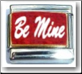 Be Mine, red glitter Italian Charm