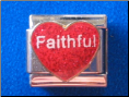 Faithful   Red Glitter