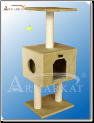 Classic Cat Tree  Beige with Large House   42