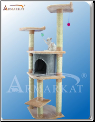 Classic Cat Tree Blanched Almond with Silver Grey Condo   64