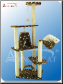 Classic Cat Tree Brown & White Paw Print   66