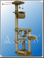Classic Cat Tree Beige With Hanging Tunnel   74