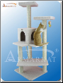 Classic Cat Tree Ivory Faux Fleece   Perches & House   57
