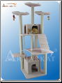 Classic Cat Tree Ivory Faux Fleece & Ramp   82