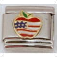 Big Apple US Flag Italian charm