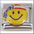 Patriotic Smiley Face Italian charm