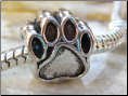 Dog Paw European Bead