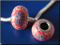 Blue Flower Child CLAY Bead
