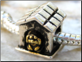 Dog House Silver Bead