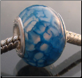 Blue Dragon Agate Sterling Silver Bead