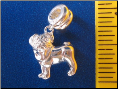 Bead   Dangle Pug Dog Sterling silver