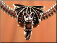 Bat Halloween Silver European Bead