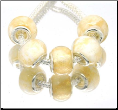 Butterscotch Cream Murano Glass Bead